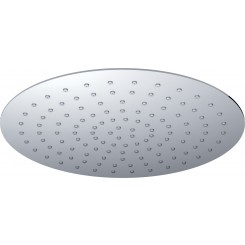 UFO Luxe hoofddouche rond 400mm Ultra plat chroom