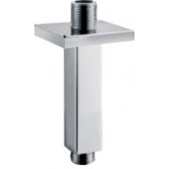 Luxe douche-arm vierkant plafondbevestiging 15 cm. chroom