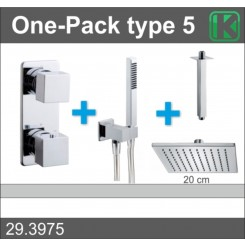 One-Pack inbouwthermostaatset vierk.type 5 (20cm)