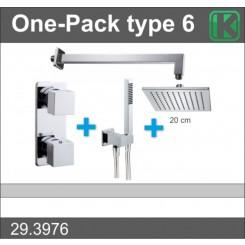 One-Pack inbouwthermostaatset vierk.type 6 (20cm)