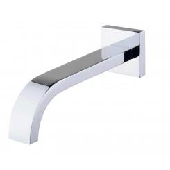 """Inbouw-baduitloop vierkant 22 cm. 1/2"""" chroom"""