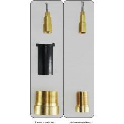 Caral/Rombo 2-weg verlengset inbouwthermostaat