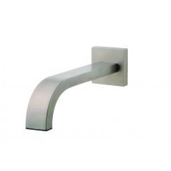 """Inbouw-baduitloop vierkant 22cm 1/2"""" geb.staal"""