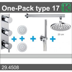 One-Pack inbouwthermostaatset type 17 (20cm)
