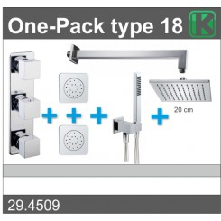 One-Pack inbouwthermostaatset type 18 (20cm)