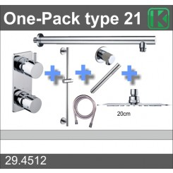 One-Pack inbouwthermostaatset type 21 (20 cm)
