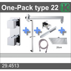 One-Pack inbouwthermostaatset type 22 (20 cm)