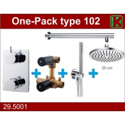 One-Pack inbouwthermostaatset rond type 102 (20cm)