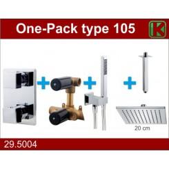 One-Pack inbouwthermostaatset vierk.type 105 (20cm)