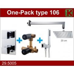 One-Pack inbouwthermostaatset vierk.type 106 (20cm)