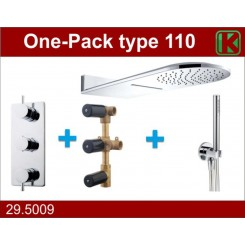 One-Pack inbouwthermostaatset type 110 (25x60)