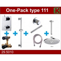 One-Pack inbouwthermostaatset type 111 (20cm)