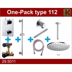 One-Pack inbouwthermostaatset type 112 (30cm)