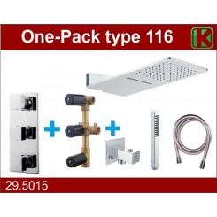 One-Pack inbouwthermostaatset type 116 (24x55)