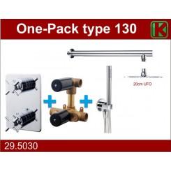 Wiesbaden one-pack inbouwthermostaat set