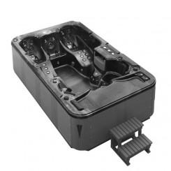 EO-SPA SPA Sorrento 3.8 Pearlshadow 380x230 cm. grijs met tv