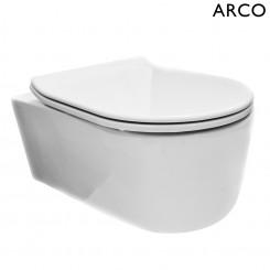 Arco wandcloset met Flatline zitting wit
