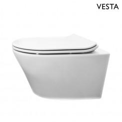 Vesta  wandcloset met Flatline zitting wit