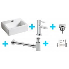 One Pack Leto fontein en Amador toiletkraan chroom