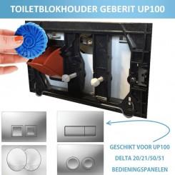 Toiletblokhouder montageset tbv Geberit UP-100