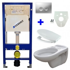 Geberit UP 100 + Neptunus WC +Ultimo zitting + Delta 21 mat chroom