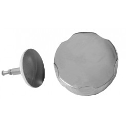 Losse plug met draaiknop tbv badwaste chroom