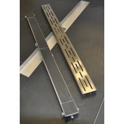 RVS tegelrooster tbv douchegoot 70x7 cm.