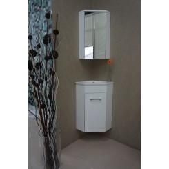 Lena hoekfonteinkast met spiegelkast 500x850x250 mm. wit