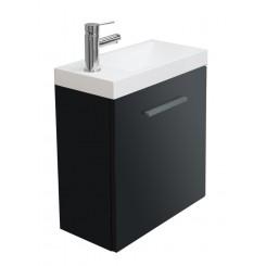 Emma fonteinkastje met wastafel 500x250x500 mm hoogglans grijs