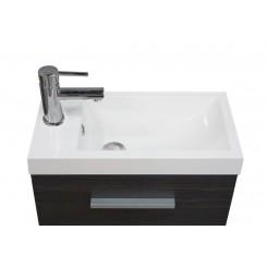 Emma fonteinkastje met wastafel 500x250x500 mm houtnerf grijs