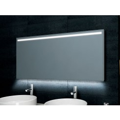 Weisbaden Ambi One dimbare LED condensvrije spiegel 1400x600 mm.