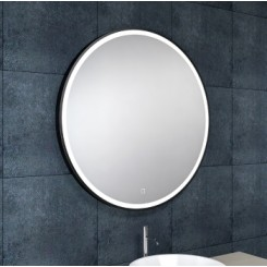 Maro spiegel 1000 mm. rond met LED mat-zwart