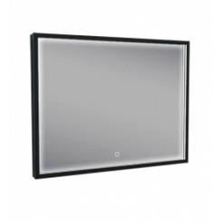 Rechthoekige condensvrije LED-spiegel 800x600 mm. matzwart