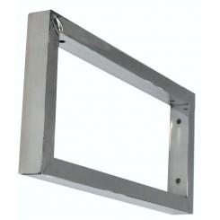 Chroom vierkante supportbeugel 46x22 cm