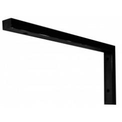 Wiesbaden mat-zwarte L- supportbeugel 46x22 cm.