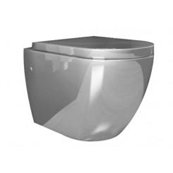 Molina wandcloset incl. zitting glans-zilver