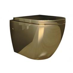 Molina wandcloset incl. zitting glans-goud