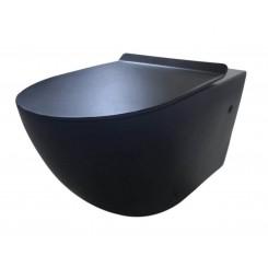 Morrano-Rimfree wandcloset incl. zitting mat-zwart