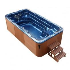 AWT zwemspa Innovation 4.5 Summer Saphire 450x230 cm. bruin