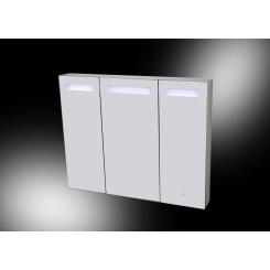 Aluma spiegelkast incl. LED verlichting 100x80 cm.