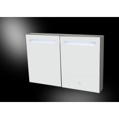Aluma spiegelkast incl. LED verlichting 90x60 cm.