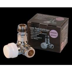Luxe thermostatisch voorbereid ventiel axiaal (haaks verkeerd) 1/2''x15mm