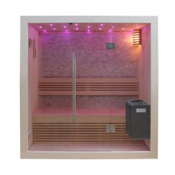 EO-SPA Sauna B1103B licht pijnboom 150x105 cm. 3kW EOS BiO-Mini
