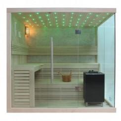 EO-SPA Sauna B1105C licht pijnboom 180x180 cm. 9kW EOS BiO-MAX