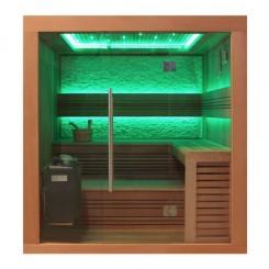EO-SPA Sauna B1241A red ceder 220x170 cm. 9kW EOS Bio-Thermat