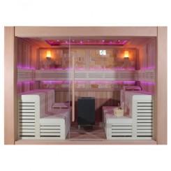 EO-SPA Sauna B1400D rood ceder 300x200 cm. 12kW BiO-Cubo