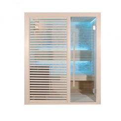 EO-SPA Sauna B1410C licht populier 120x105 cm. 3kW EOS BiO-Mini