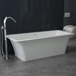 EAGO StoneArt Vrijstaand Badkuip BS-502 wit 179x80 cm. mat