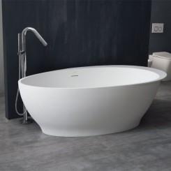 EAGO StoneArt Vrijstaand Badkuip BS-516 wit 180x104 cm. glanzend