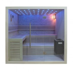 EO-SPA Sauna B1102A populier 220x200 cm. 9kW EOS BiO-Thermat